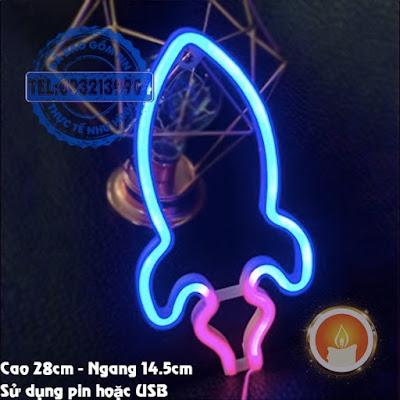 Đèn led neon love tên lửa