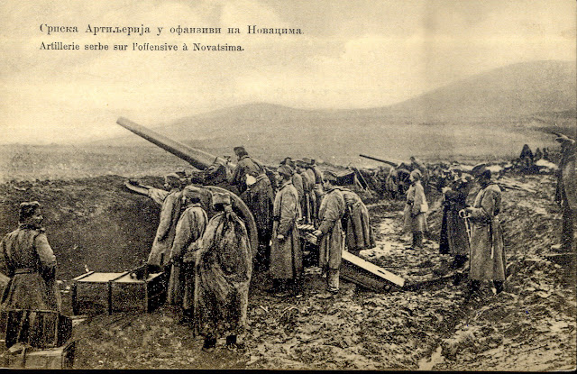First Balkan War - Serbian artillery during an offensive - Location village Novaci, near Bitola