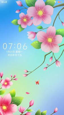 Flower Theme itz For Vivo