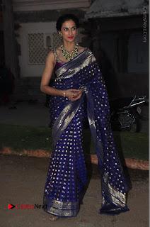 Model Shilpa Reddy Stills in Purple Silk Saree at Gudi Sambaralu 2017 Sri Ramachandra Swami Temple  0059.JPG