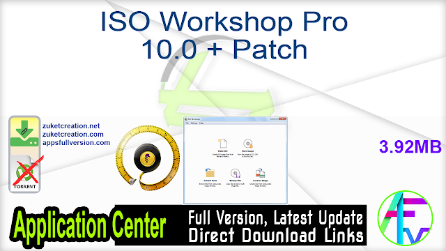 ISO Workshop Pro 10.0 + Patch