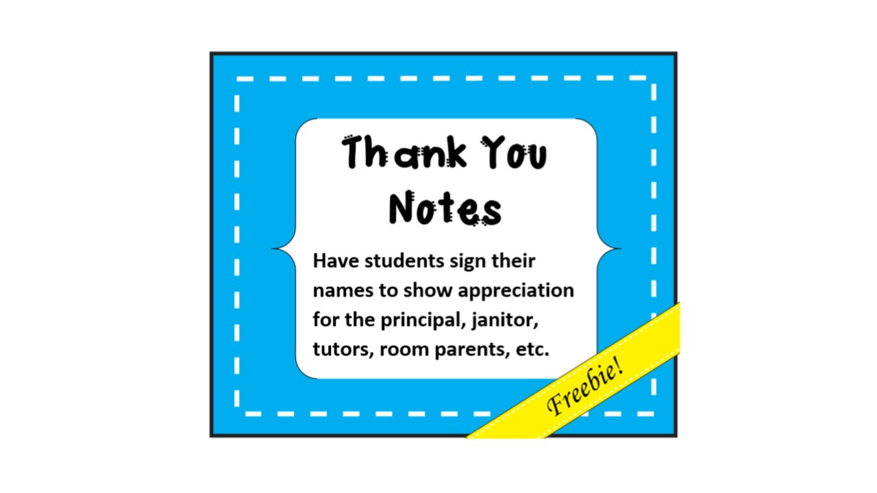 Forever A Teacher, Forever A Learner: Thank You Notes
