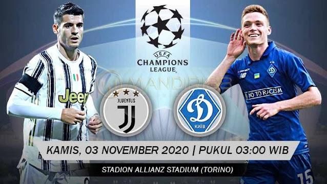 Prediksi Juventus Vs Dynamo Kiev, Kamis 03 November 2020 Pukul 03.00 WIB