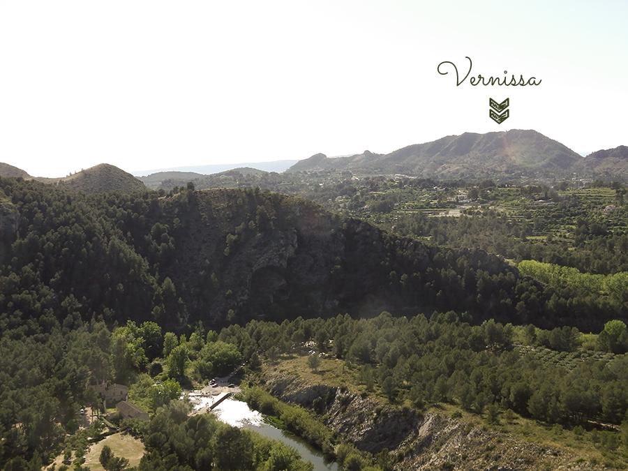 Vistas de La Vernissa y el río Albaida