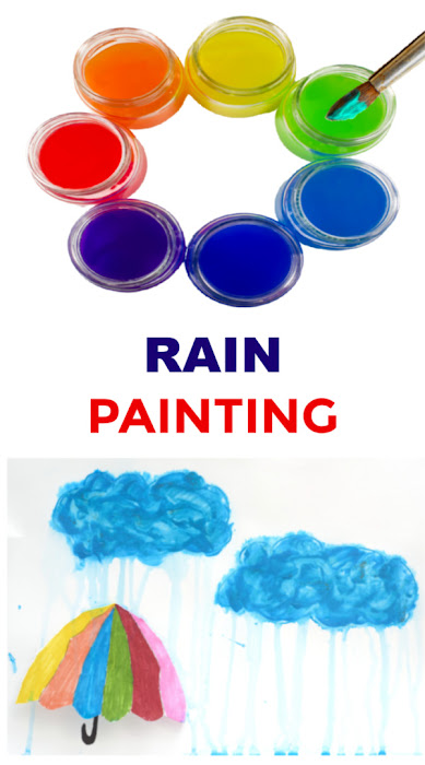 Turn rain into rainbows with this easy paint recipe for kids! #rainpaintingkids #rainpaint #paintrecipeforkids #rainydayactivities #growingajeweledrose #activitiesforkids