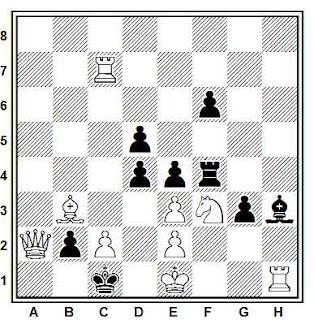 Problema de mate en 2 compuesto por Anatoly Styopochkin (T.T. Kalininskaya pravda 1988, 1º Premio)