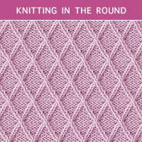 Twist Cable 28 -Knitting in the round