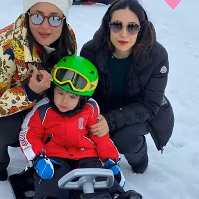 saif ali khan chilling in Switzerland with his family