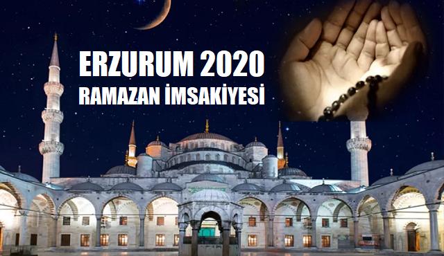 Erzurum 2020 Ramazan İmsakiyesi, İftar ve Sahur Saatleri
