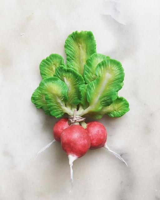 Radis radishes La Fille du Consul sculpture botanique légumes potager