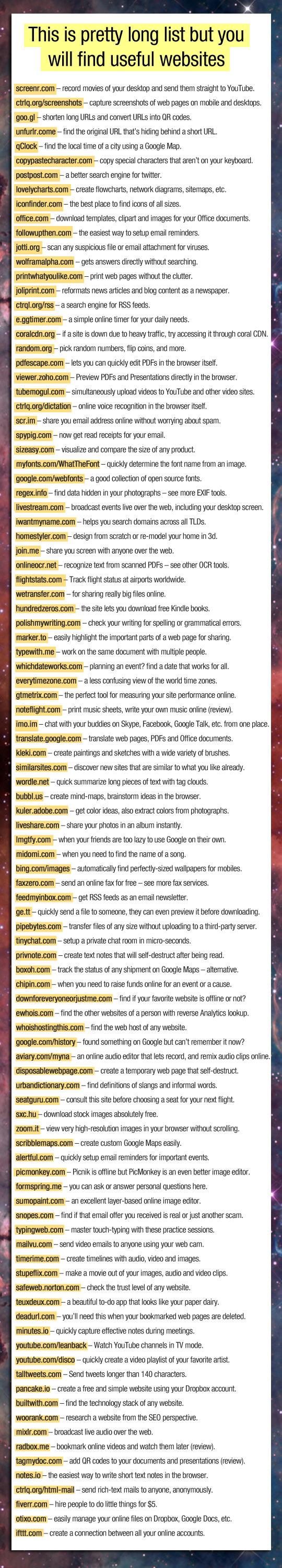 LIFE HACKS // 50 senarai websites yang BERGUNA //