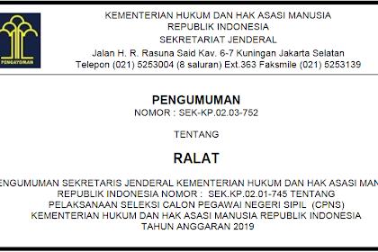 Contoh Surat Lamaran CPNS Kemenkumham 2019