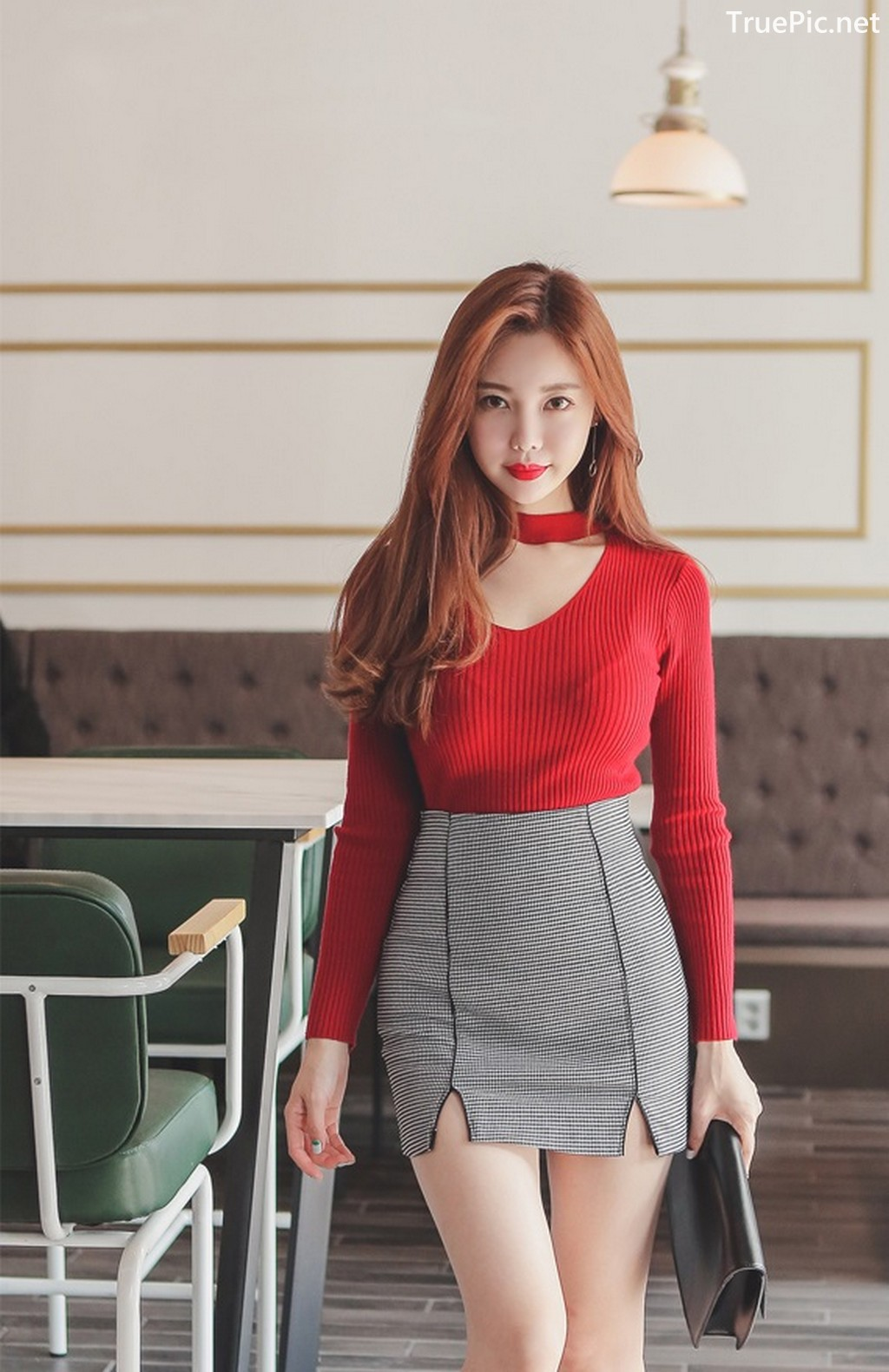 Image Korean Fashion Model - Hyemi - Office Dress Collection - TruePic.net - Picture-2