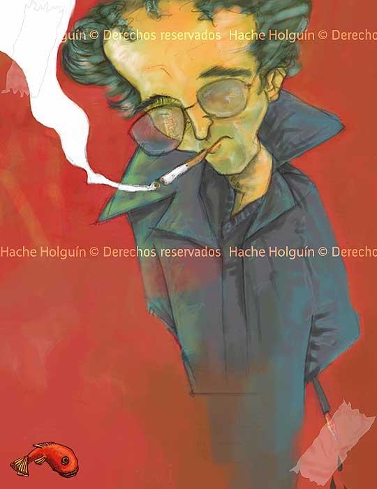 Wallpaper de Roberto Bolaño por Hache Holguin