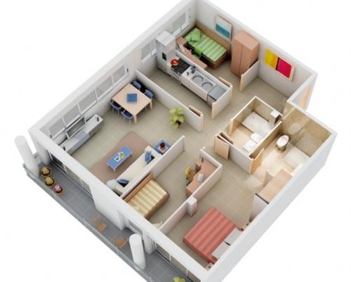 Desain Rumah Minimalis Modern 1 Lantai Dengan 3 Kamar Tidur