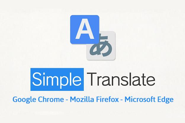 Simple Translate - Πρόσθετο για μετάφραση επιλεγμένου κειμένου σε ιστοσελίδες