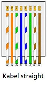 Cara Menyusun warna Kabel Straight dan Crosscover