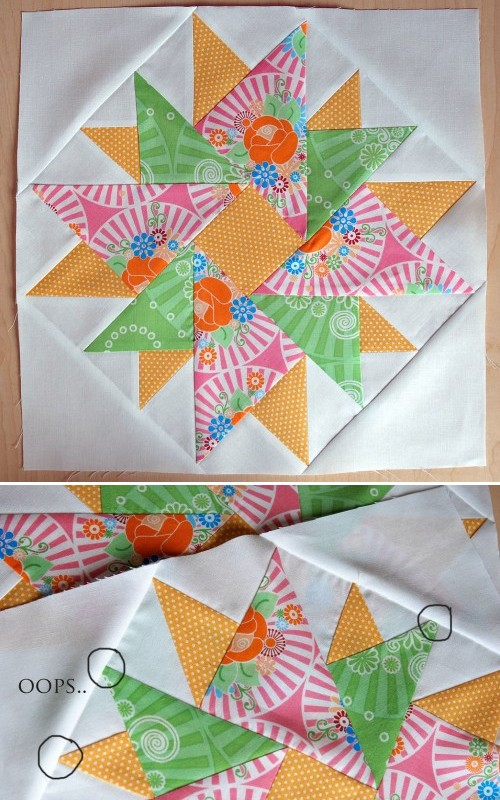 Double Aster Quilt Block - Tutorial