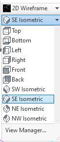 View Manager menu_list, SE Ismetric View