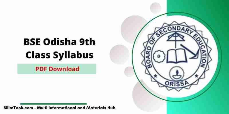 [New] BSE Odisha 9th Class Syllabus 2021 PDF, BSE Odisha 9th New Syllabus 2021