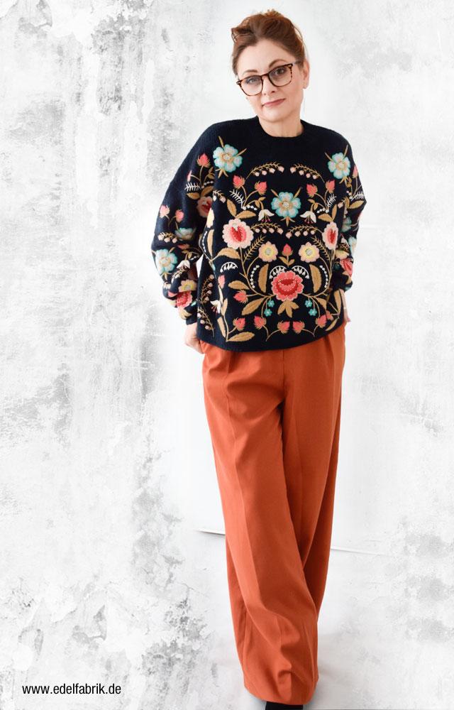Weite Marlene Hose von H&M in Orange