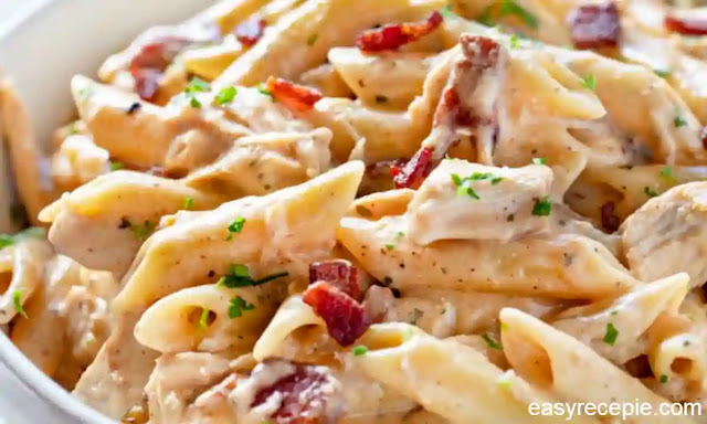 Simple and creamy chicken pasta recipe at home