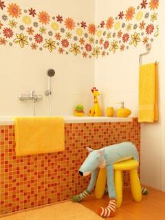 أسس ديكور حمام غرفة الطفل