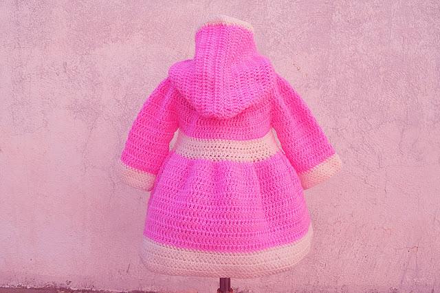 2 - Crochet Imagen Abrigo para canesú a crochet y ganchillo por Majovel Crochet