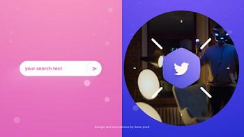 Minimal 2D Search Logo Intro