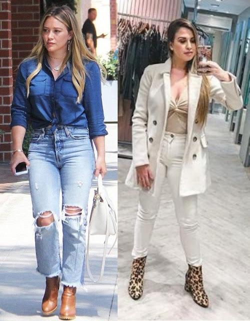 Hilary Duff, Fabi Santina, Looks estilosos com calça jeans