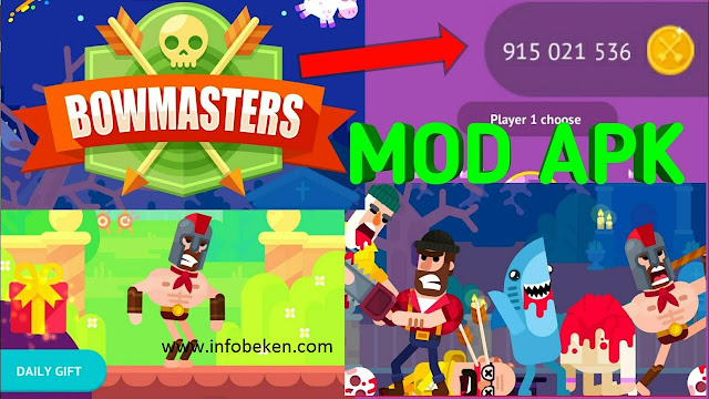 Download Bowmaster mod apk Versi Terbaru 2020