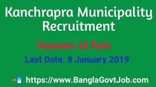 Kanchrapara Municipality 62 Clerk,majdoor,pump operator,sanitary assistant,assistant cashier,kanchrapara municipality application form