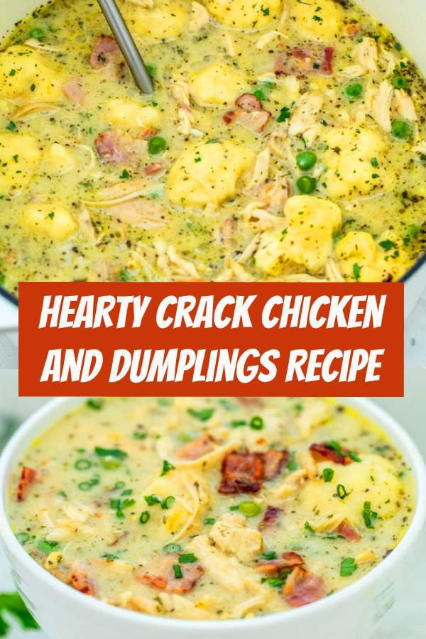 Hearty Crack Chicken and Dumplings is a twist to the classic version! Still a hearty comfort food, this recipe will surely be a new favorite of your family! #Chicken #Dumplings #ChickenDumplings #comfortfood