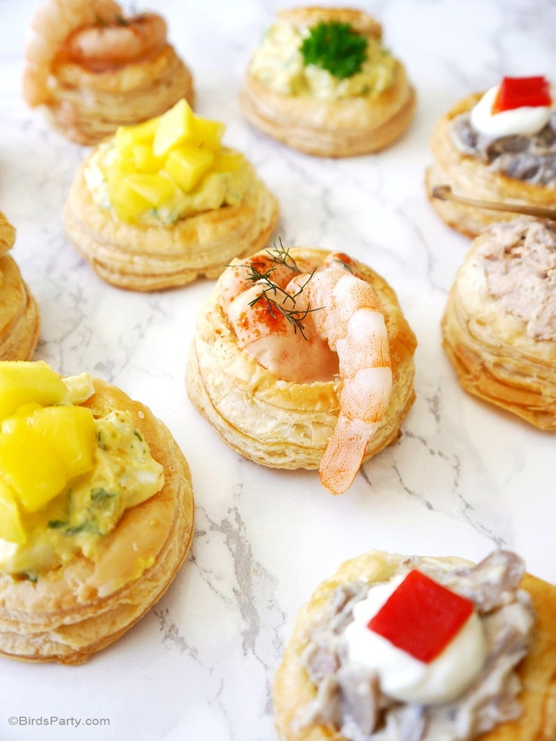 Appetizers Ideas For Dinner Party Part - 47: Retro Vol-au-Vent Party Appetizers Recipes - BirdsParty.com
