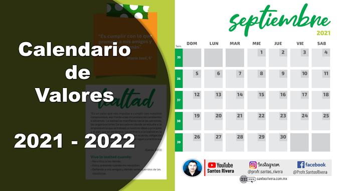 Calendario de valores 2021 - 2022