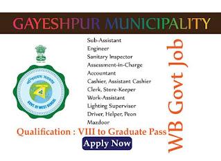Gayeshpur Municipality Recruitment