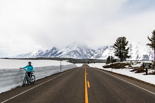 Cycling at Grand Teton National Park, Wyoming