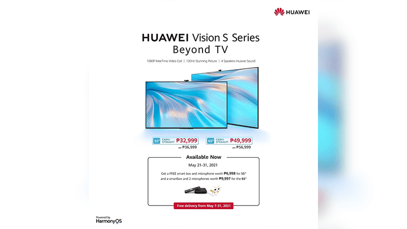 Huawei Vision S series now available in PH with freebies up to PHP 9,997