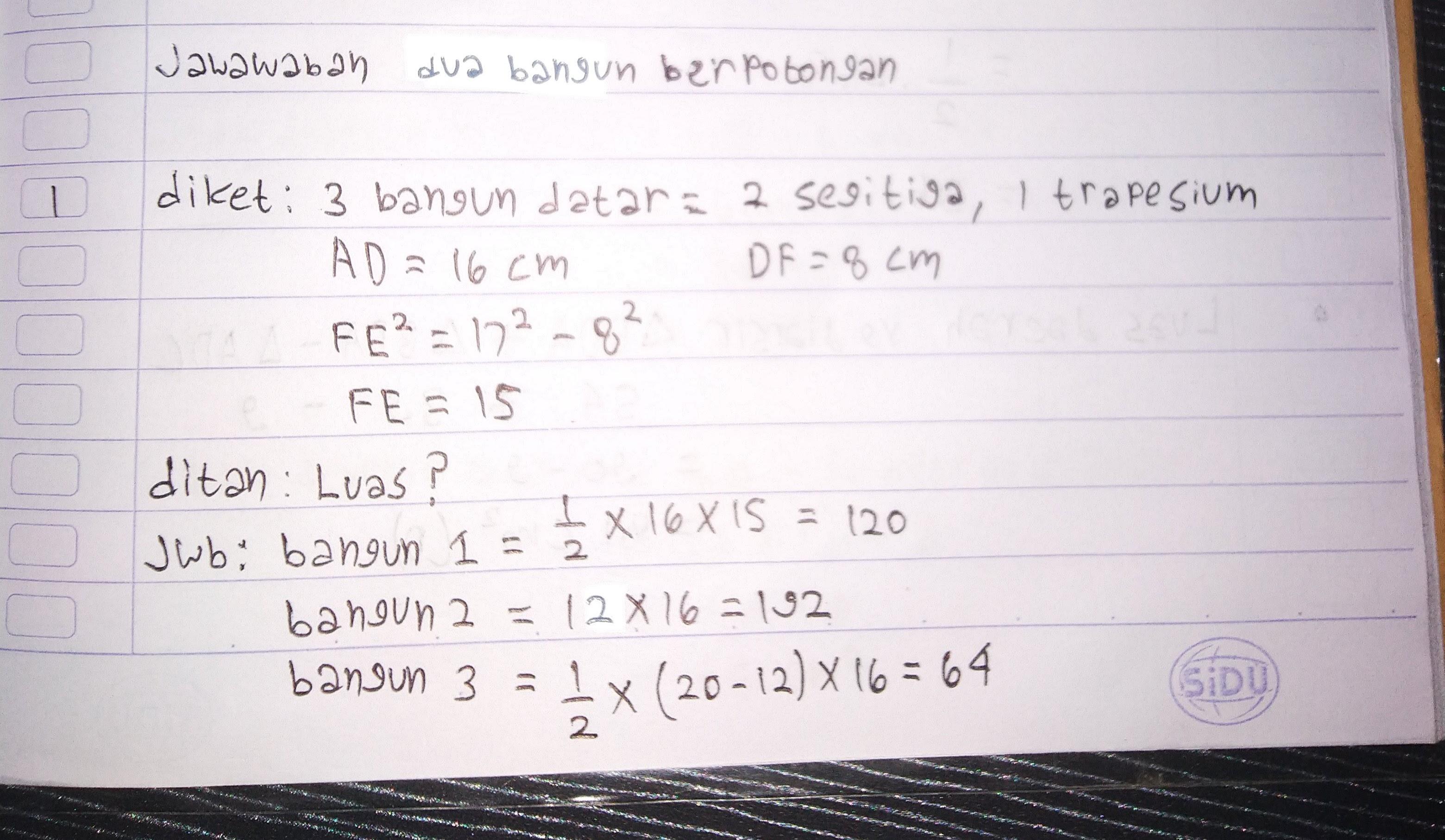 Soal Ujian Matematika beserta jawabannya