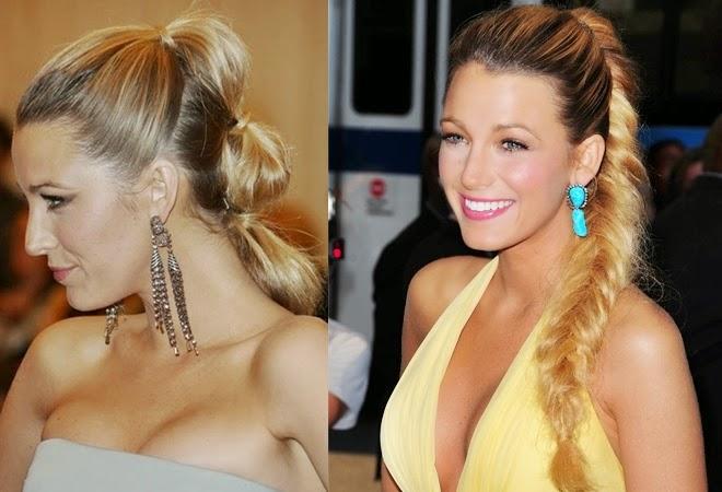penteados festa cabelo preso com trança Blake Lively