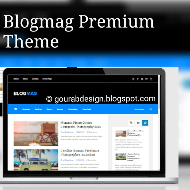 BlogMag Premium Blogger Template Free Here