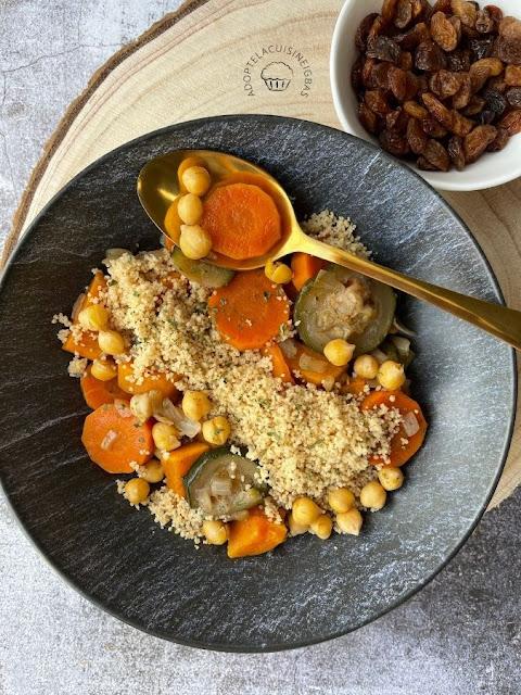 couscous végétarien - Recette facile - IG bas