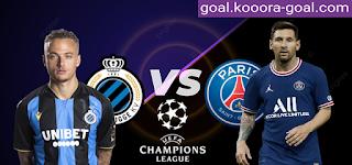 موعد ومشاهدة مباراة باريس سان جيرمان وكلوب بروج بث مباشر كورة جول اليوم 15-09-2021 في دوري ابطال اوروبا