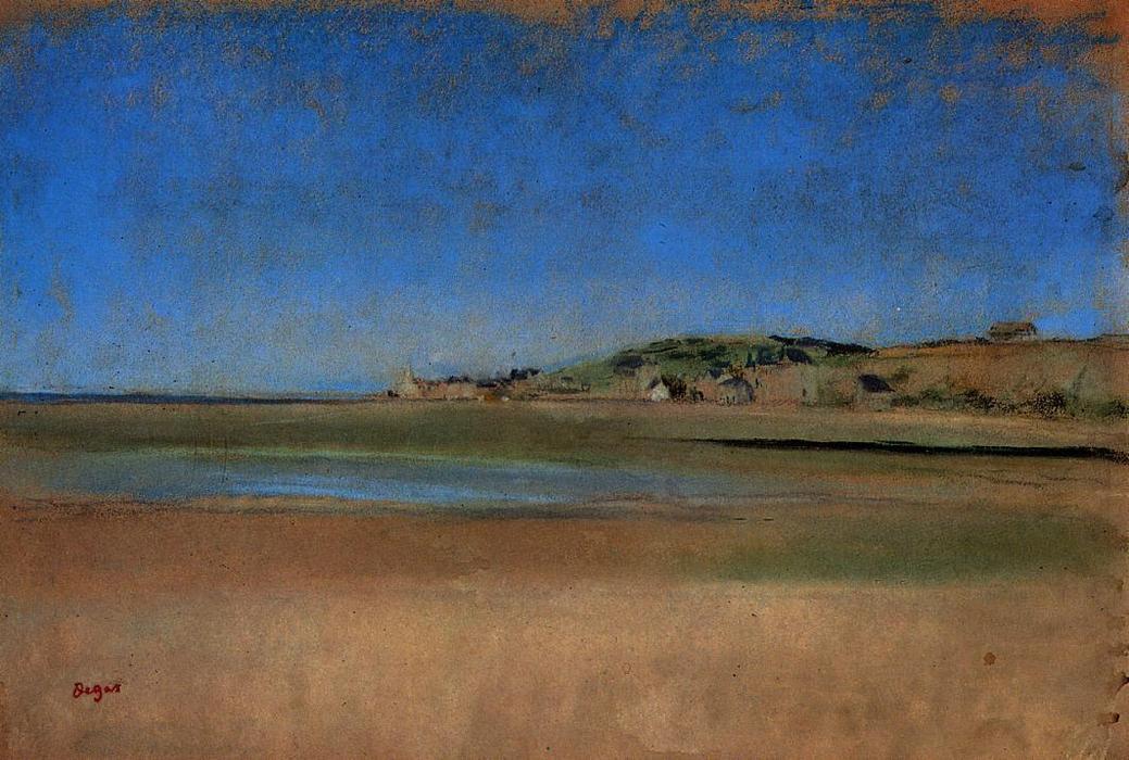 Casa junto al mar. Edgar Degas. 1869, Pastel, 31,4x46,5 cm. París, Museo del Louvre.