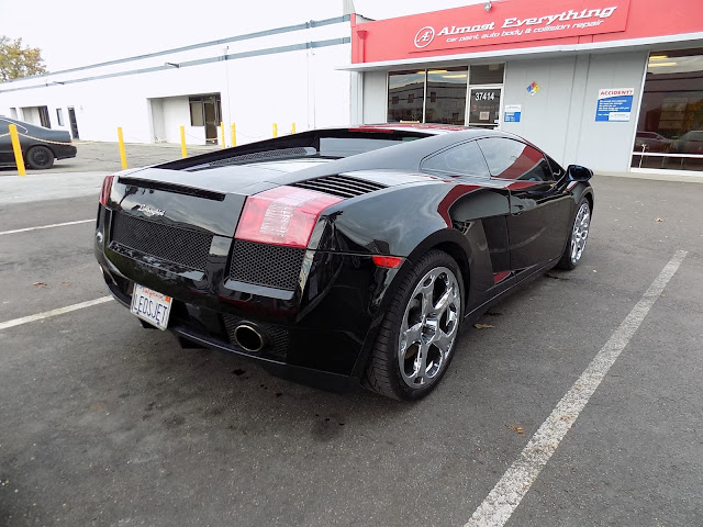 2005 Lamborghini Gallardo after body repairs & paint at Almost Everything Auto Body.