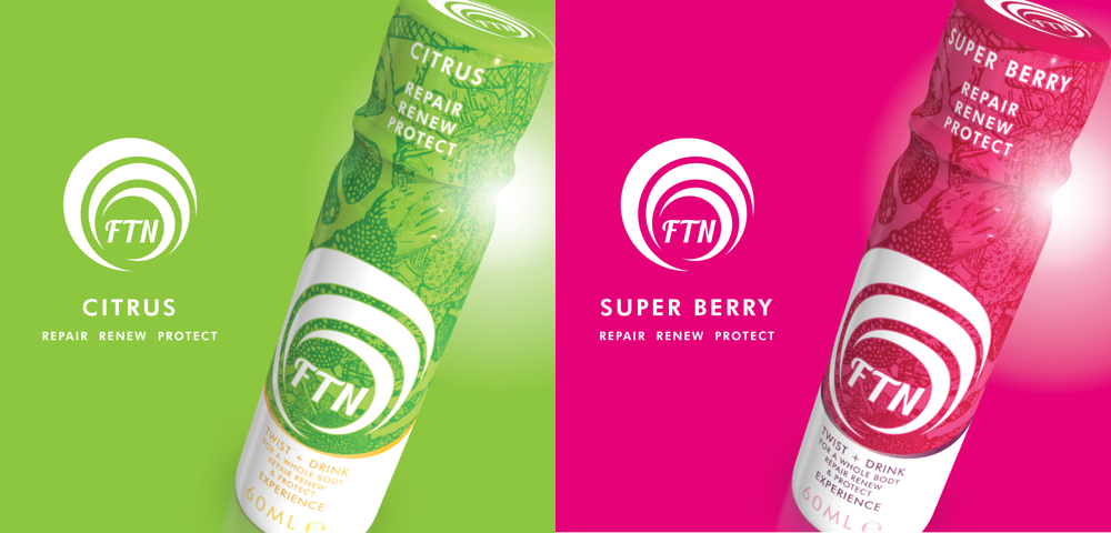 Varieties of FTN wholefood nutraceutical stem cell recovery drink