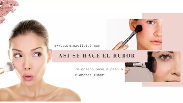 ▷ Como se hace el RUBOR industrial maquillaje profesional paso a paso