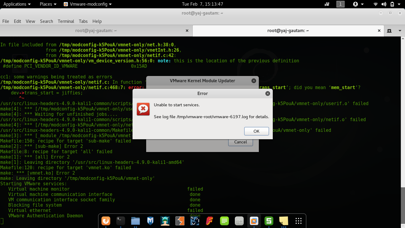 How to patch kernel module in vmware 12 5 2 after updating