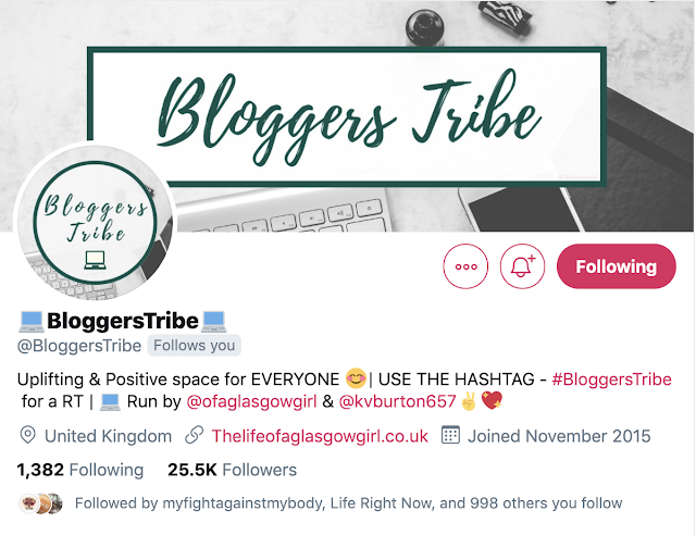 A Screenshot of Bloggerstribe Twitter landing page
