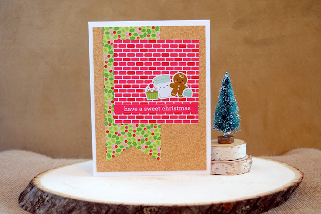 Card with Doodlebug Milk and Cookies by Jess Crafts